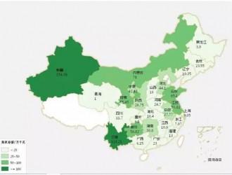 2015年1-6月中国风电装机容量统计