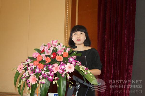 中国循环经济协会可再生能源专委会政策研究专管彭澎女士