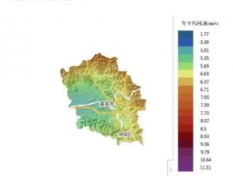 山东省及各市风资源分布图