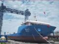 国内第一艘海上风电管桩特型运输船正式下水!