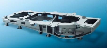 兆瓦级双馈机型钢结构底座